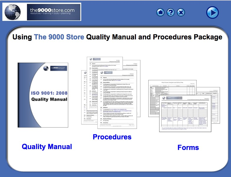 ISO 9001:2015 Quality Manual & Procedures - 9000 Store